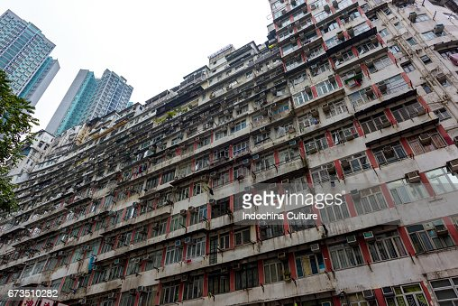 Modern And Old Apartment Building In Hong Kong Stock Photo | Getty ...