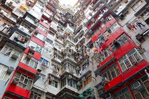 Old apartamentos en hong kong foto de stock thinkstock - Apartamentos en hong kong ...