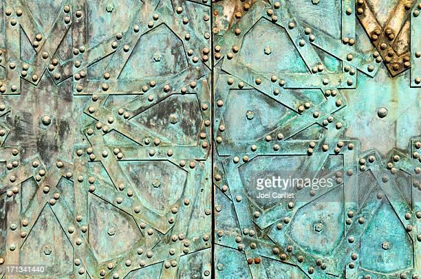 Old Arab design on door in Aleppo Syria