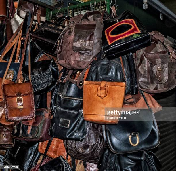 Old bags, on display