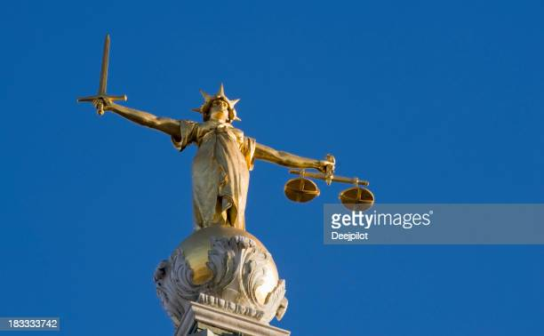 Old Bailey tribunali Statua della signora giustizia a Londra, Regno Unito
