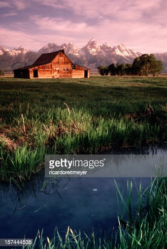 Old Barn Antelope planos Grand Tetons Wyoming Vertical