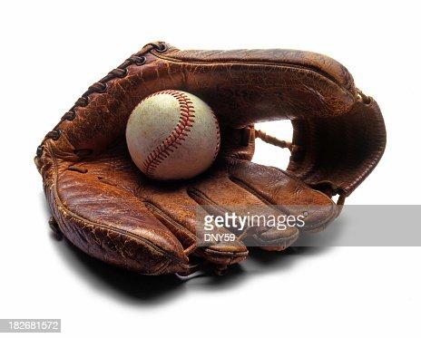 Old Baseball & Glove