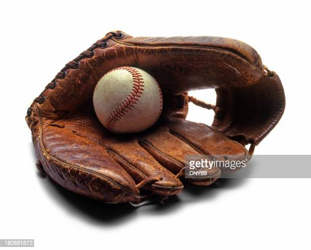 Old Baseball & Glove
