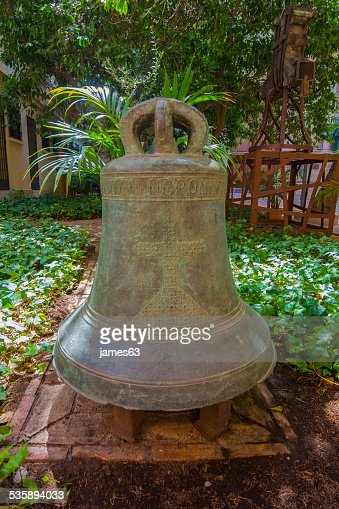 old bell of the cathedral of Malaga, Spain : Stock Photo