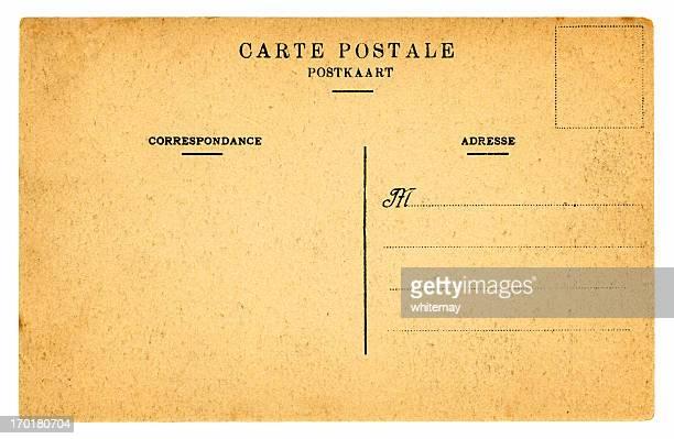 Old blank Belgian postcard