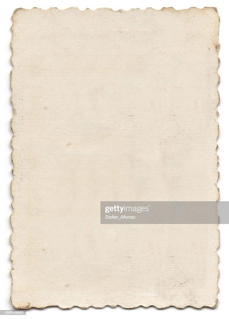 Old blank photo isolated on white : Stock Photo