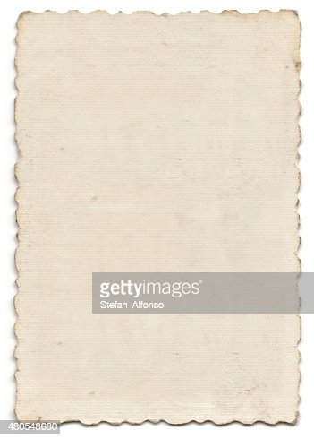 Old blank photo isolated on white : Stock Photo