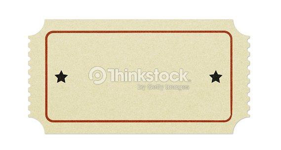 Old Blank Ticket Photo – Blank Ticket