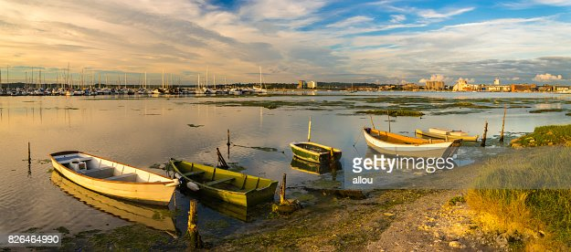 Old boats in Poole Harbour : Stock Photo