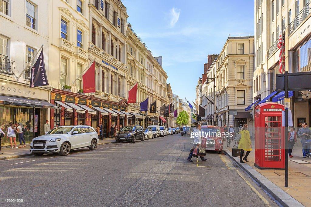 Old Bond Street in London's Mayfair area.