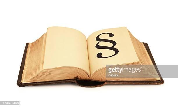 Altes Buch mit Ziffer-Symbol