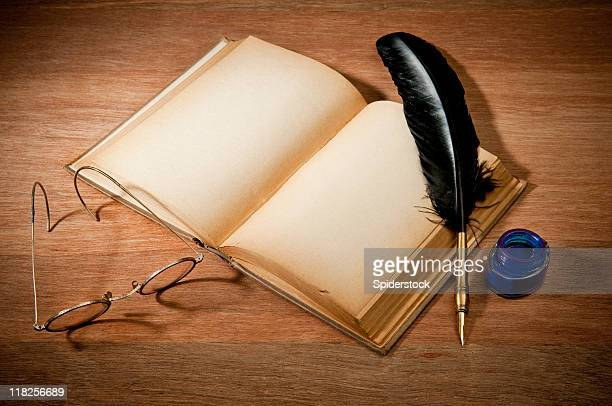Old Book With Quill Pen