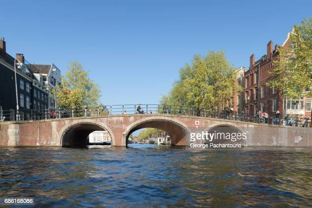 Old bridge in Amsterdam, Netherlands