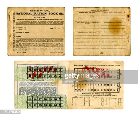 Old British Food Ration book from 1918