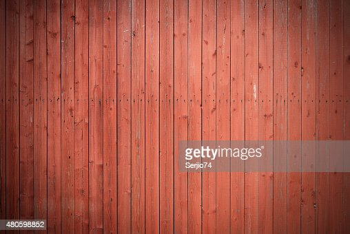 Old brown painted fence. : Stock Photo