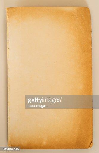 Old brown paper, studio shot