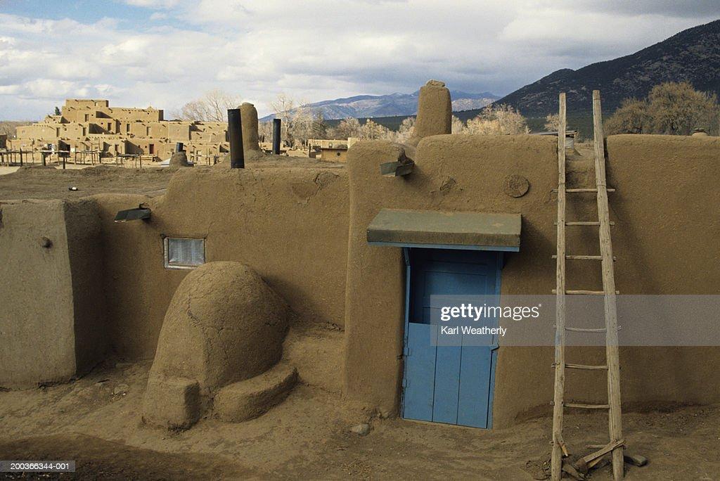 Old buildings, Taos Pueblo, Taos, New Mexico, USA