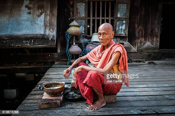 Old Burmese monk in Mandalay, Myanmar