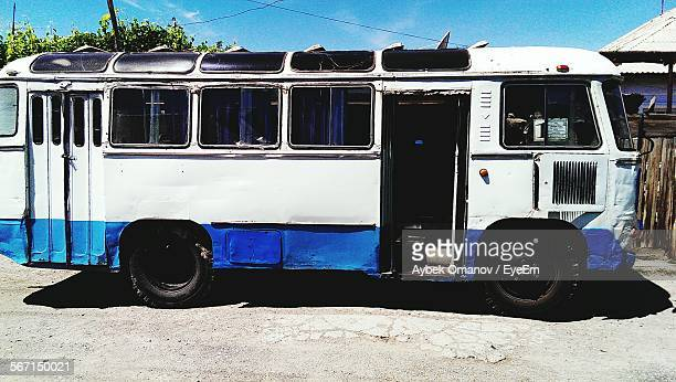 Old Bus Parked On Road
