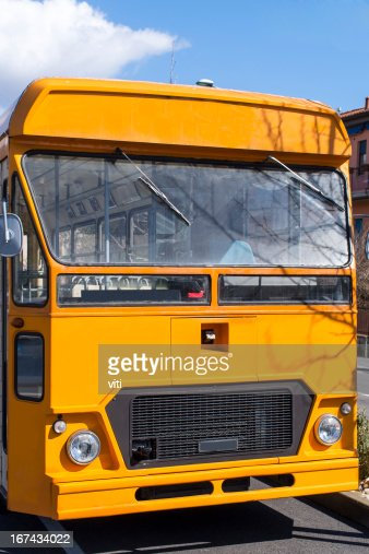 old de autobús : Foto de stock