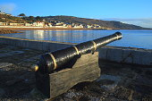 Old canon on the Cobb in Lyme Regis, Dorset