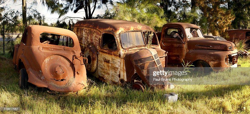 Old car graveyard : Stock Photo