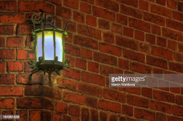 Old cast iron lamp
