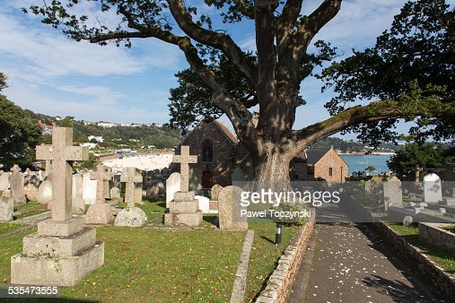 Old cemetery in St Brelade, Jersey