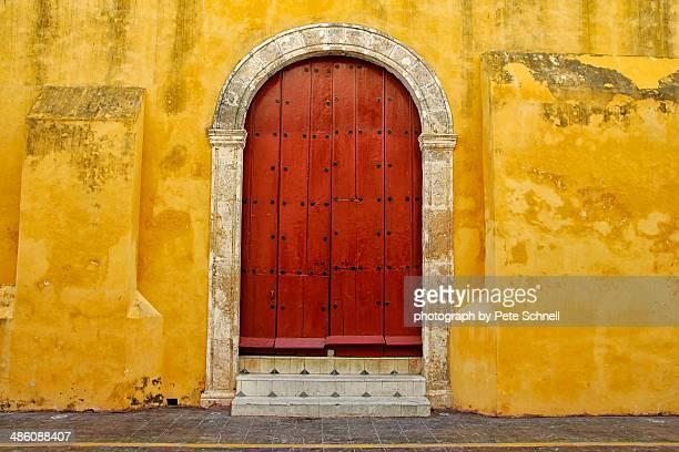 Old church door in Campeche