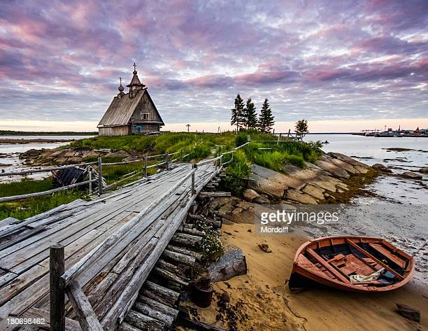 Old church on the coast of White sea