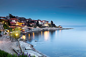 Old city of Nessebar at night