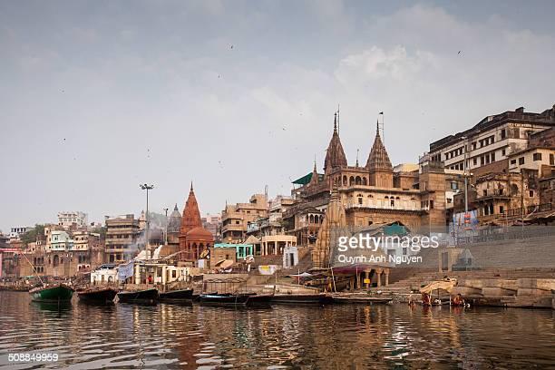 Old city of Varanasi, India