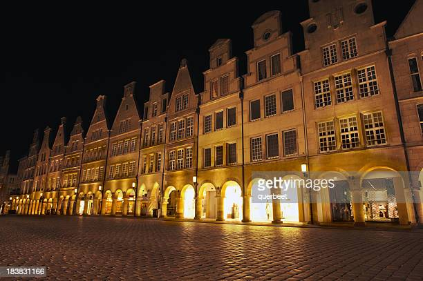 Old city street at night - Prinzipalmarkt in Münster /Germany