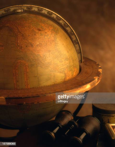 Old Classic World Globe Office