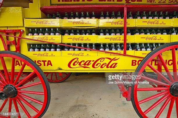 Old CocaCola soda wagon antique in Central GA off highway 22