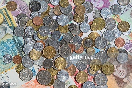 Vecchie monete  : Foto stock