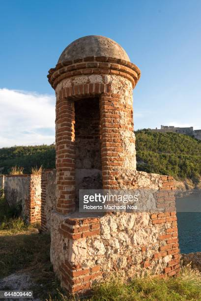 Old colonial remains ruins of Spanish military fortress Saint Peter of the Rock fort is a Unesco World Heritage Site