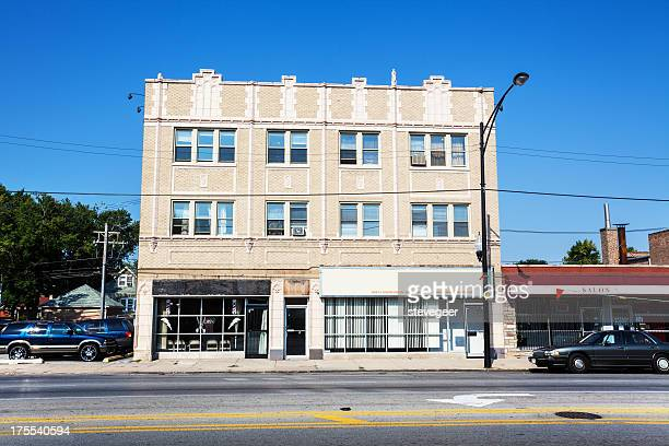 Old Commercial Building on Ashland Avenue, Chicago