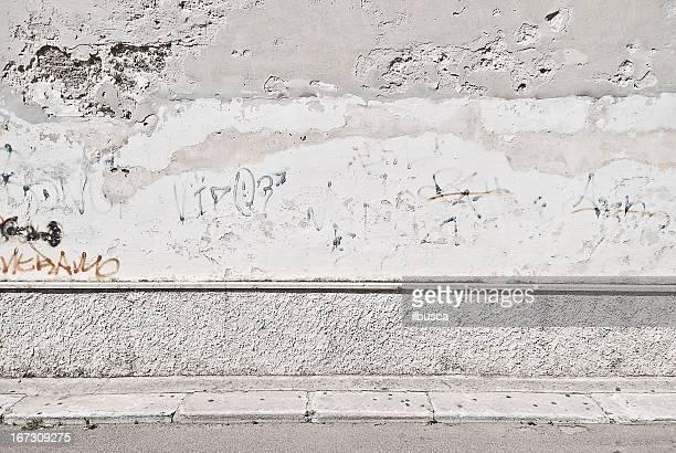 Velho grunge Muro de concreto com Passeio