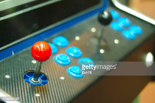 Old console joysticks. : Stock Photo