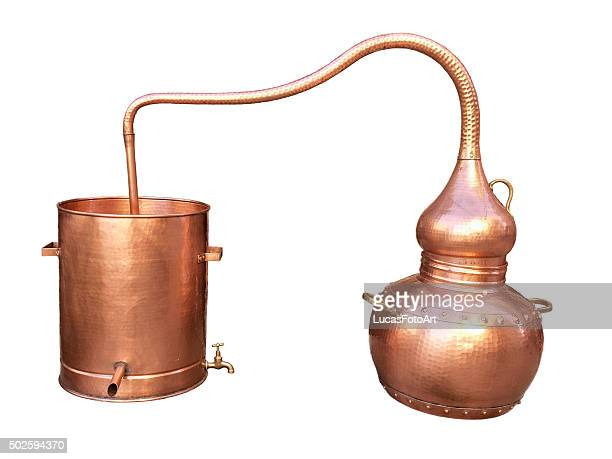 Old copper alembic