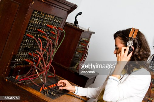 Old Cord Switchboard Operator