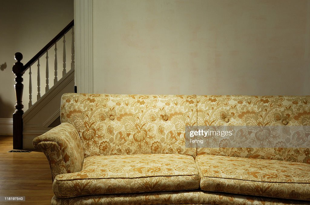 Old Couch In A Retro Living Room Stock Photo Getty Images