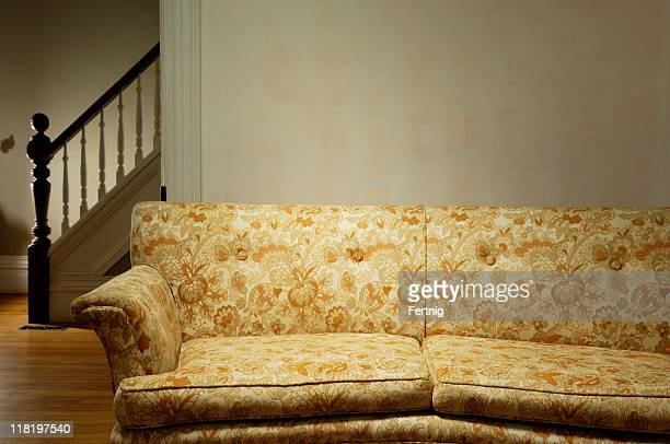 Old couch in a retro living room
