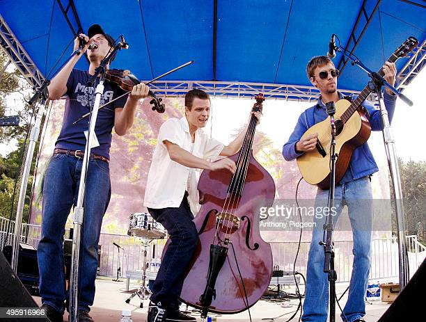 Old Crow Medicine Show perform onstage at Hardly Strictly Bluegrass Festival Golden Gate Park San Francisco California USA on 5th October 2003