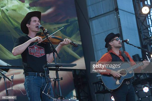 Old Crow Medicine Show performing at Farm Aid at the First Merit Bank Pavillion at Northerly Island on September 19th 2015 in Chicago Illinois
