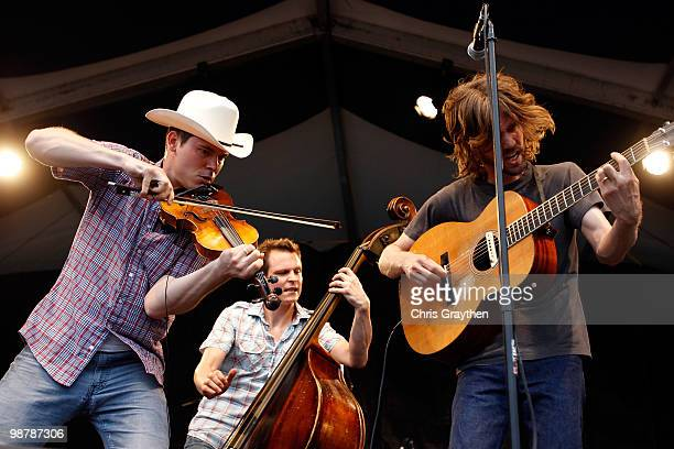 Old Crow Medicine Show performs at the 2010 New Orleans Jazz Heritage Festival Presented By Shell at the Fair Grounds Race Course on May 1 2010 in...