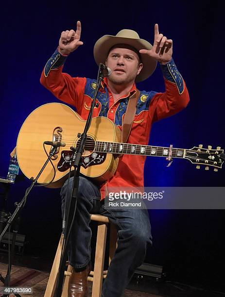 Old Crow Medicine Show's Critter Fuqua performs during Songwriter Session For 'Dylan Cash And The Nashville Cats' Exhibition Opening Weekend at...