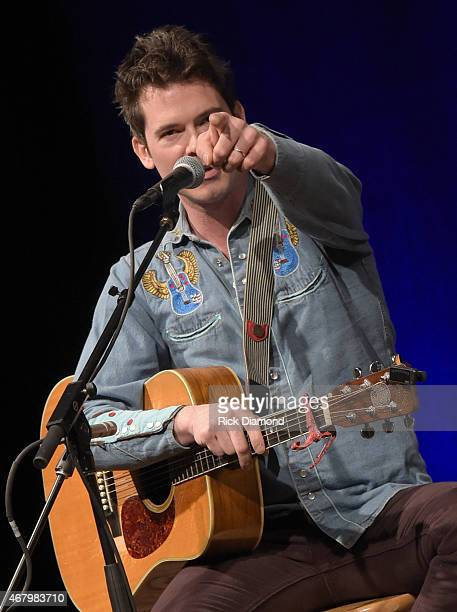 Old Crow Medicine Show's Ketch Secor performs during Songwriter Session For 'Dylan Cash And The Nashville Cats' Exhibition Opening Weekend at Country...